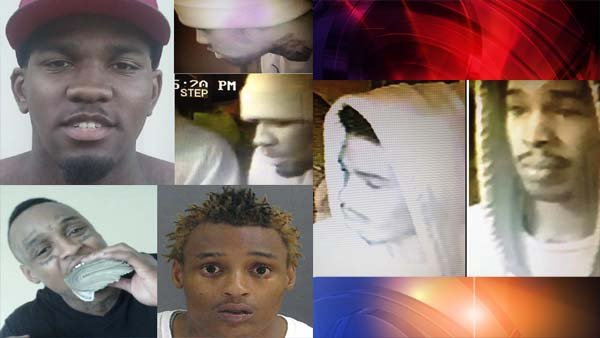 Top left: Brady, Bottom Left: Binns, Right: Unidentified suspect