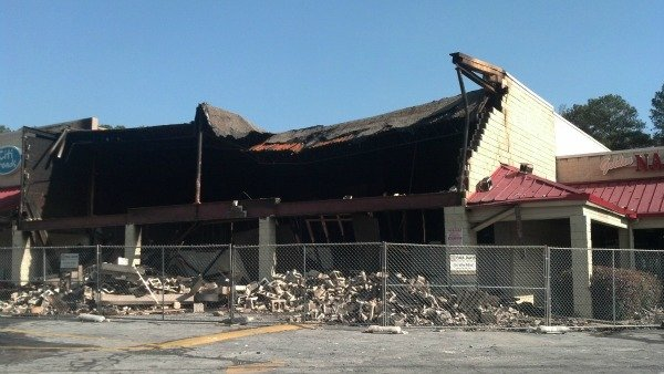 Burned down Family Dollar