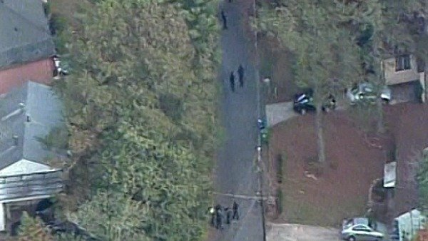 CBS Atlanta Sky Eye flies over the scene of the fatal shootings