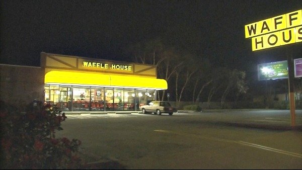 Joe Holland/CBS Atlanta- An Avondale Estates Waffle House will close Monday morning to allow crews to film scenes for a new Tyler Perry movie.