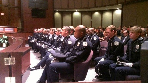 Chris Peters/CBS Atlanta- 26 men and three women were sworn in as new Atlanta police officers Tuesday night.