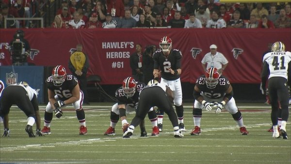 CBS Atlanta Photo- The Falcons beat the Saints Thursday bringing their overall record to 11-1, the best in the league.