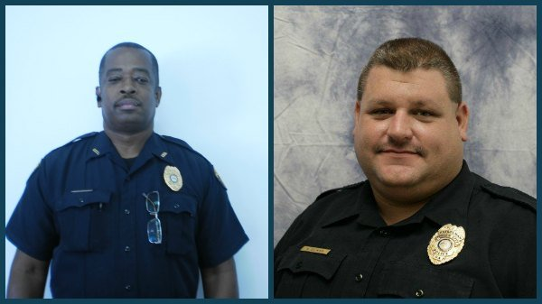 Palmetto Police Department Corporal Michael Upshur and Union City officer Kevin Gilham