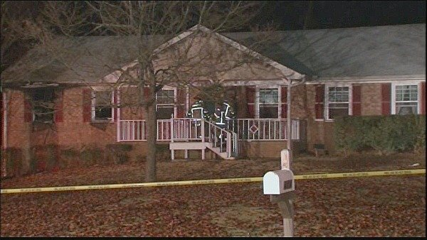 Mark Melvin/CBS Atlanta- Fire crews were able to contain the fire at this Lilburn home to one bedroom.