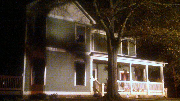 Mark Melvin/CBS Atlanta- Two family members were forced to jump from a second story window to escape the fire in their East Point home.