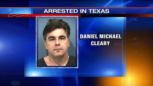 Arrest photo of Daniel Michael Cleary at Williamson County, Texas, jail