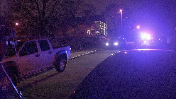 Richard Breaden/CBS Atlanta- Police investigate a home where up to 6 people were stabbed during a New Year's Eve party.