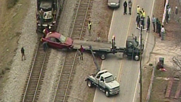 Penson's car was hit by a train on Jan. 7 on the tracks