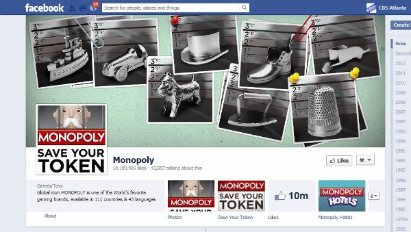 Monopoly's Facebook page