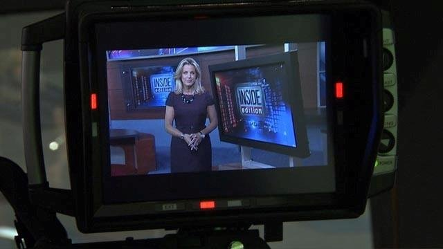 Deborah Norville tapes Inside Edition.