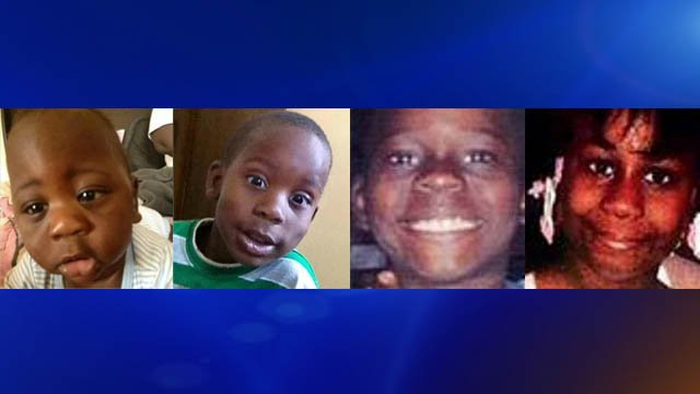 Deon, Armoni, Dar'Shawn and Ay'Dariya, who died in the fire