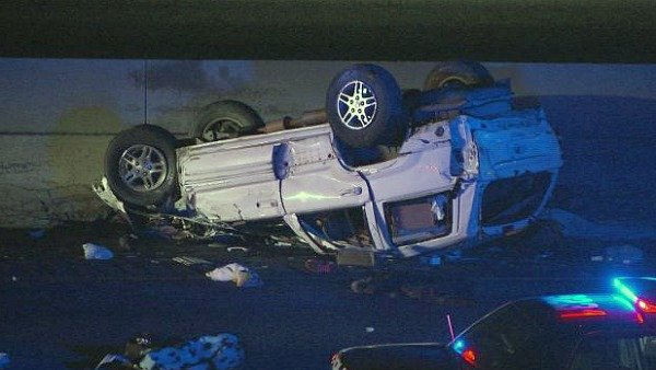 Mark Melvin/CBS Atlanta- Police are investigating a fatal rollover crash on I-75 late Monday.