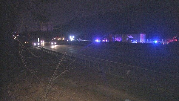Mark Melvin/CBS Atlanta- One driver was killed and three other people were taken to area hospitals after a crash on I-285 Sunday.