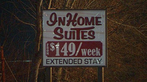 "Mark Melvin/CBS Atlanta- The building was the former ""InHome Suites"" but is now vacant."