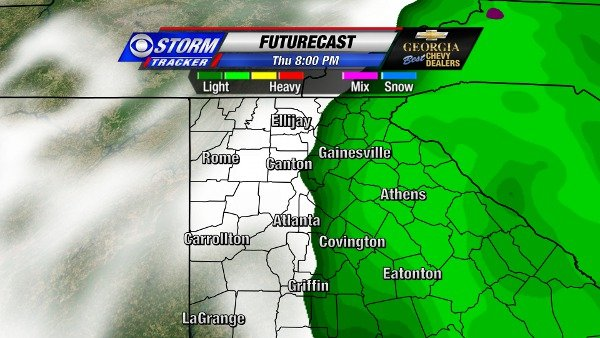 Futurecast for 8 PM Thursday