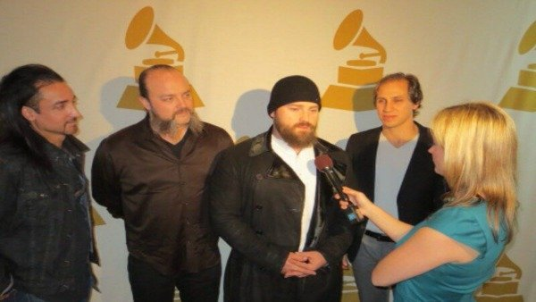 Jennifer Mayerle interviewing Zac Brown Band