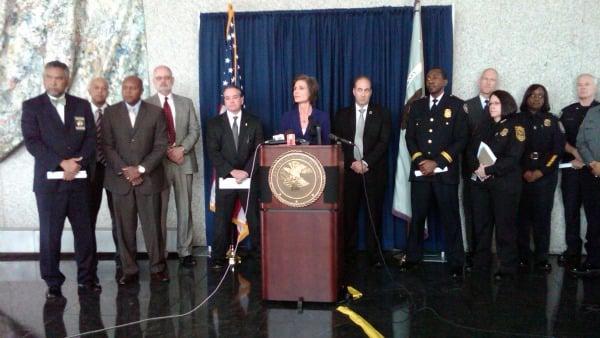 U.S. Attorney Sally Yates at the podium