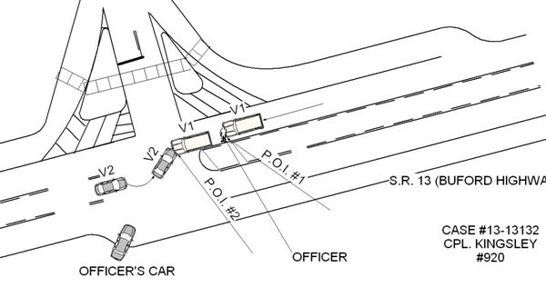 SRO accident report and diagram