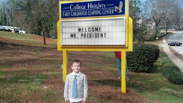Mason Martz saw the President
