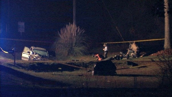 Mark Melvin/CBS Atlanta- Two were killed and two injured late Thursday night on Highway 36.