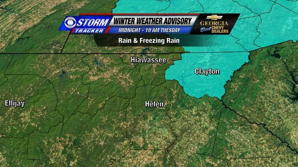 Winter Weather Advisory for NE Georgia