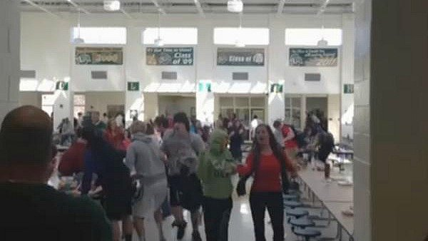 Video of the February 1st food fight at Ola HS as seen on cell phone video.