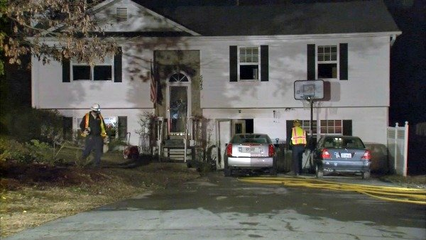Clint Erbacher/CBS Atlanta- Firefighters contained the blaze at a Buford home to one bedroom.