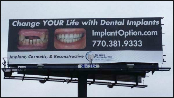 dentist 39 s billboard scaring children at norcross daycare cbs46 news. Black Bedroom Furniture Sets. Home Design Ideas