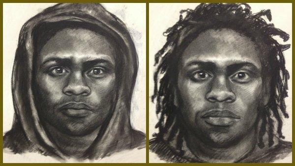 Police provided two composite sketches of a rape suspect.