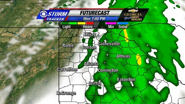 Futurecast for Monday Evening