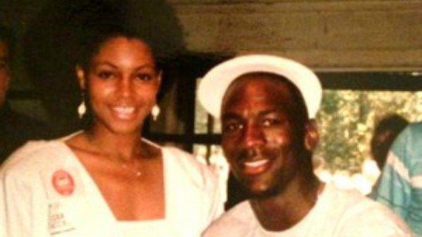 Pamela Smith and Michael Jordan