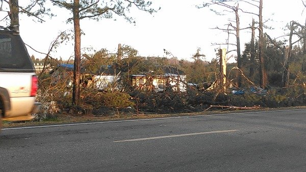 Storm damage in Silver Creek, Ga.