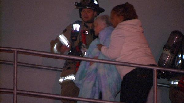 Second-floor residents were briefly evacuated because of smoke.