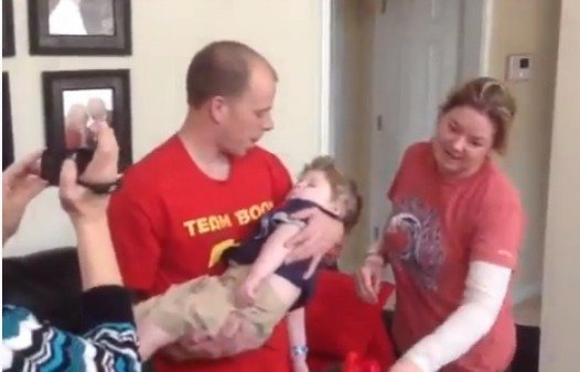 Tripp Halstead is home from the hospital