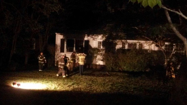 Fire damaged home on Mt. Airy Drive in southwest Atlanta