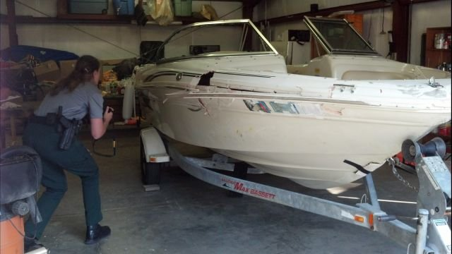 Boat involved in Friday hit-and-run