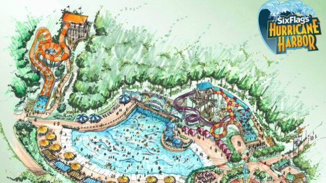 Six Flags Over Georgia Announces Hurricane Harbor Marietta White - Georgia map hurricane
