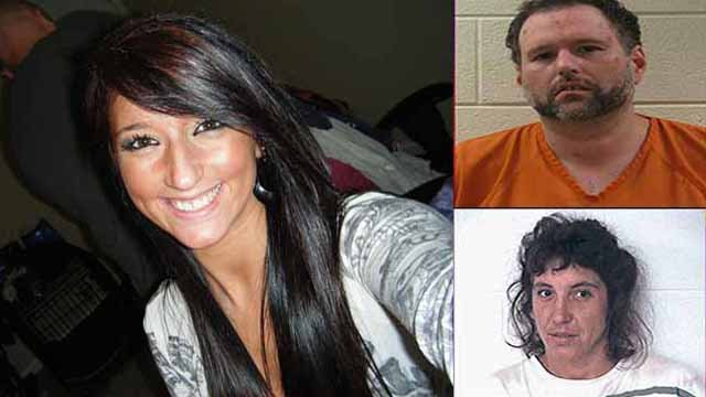 Left: Victim: Taylor Smith  Arrested: Marty Gaddis Bottom and Denise Fletcher Patterson