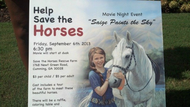 10-year-old organizes fundraiser for horse rescue