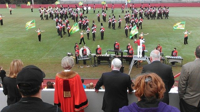 Cherokee High School band performs for Lord Mayor Catherine Longworth