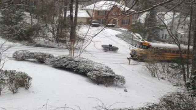 Bus stuck in Gwinnett County