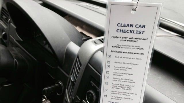 2014 Clean Car Checklist