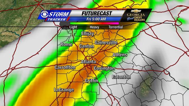 Forecast Radar at 5am Friday