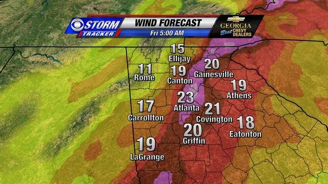 © Forecast Wind at 5am