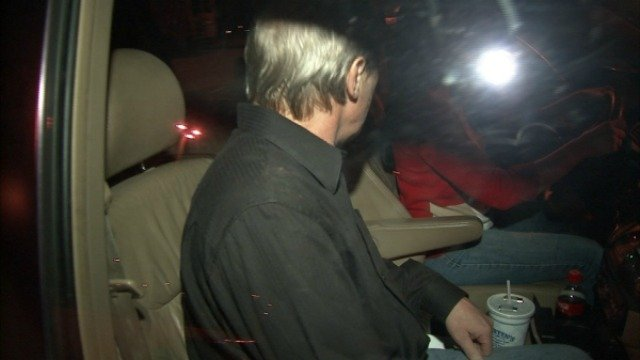 McGill leaves jail with an unidentified woman