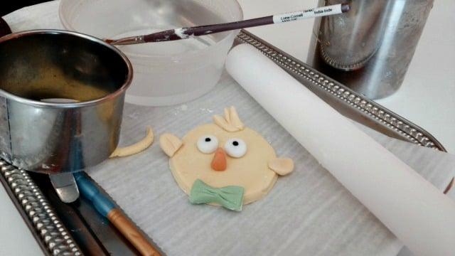 Handmade Easter cupcake topper