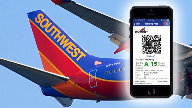 Southwest Airlines now allowing mobile boarding passes in ...