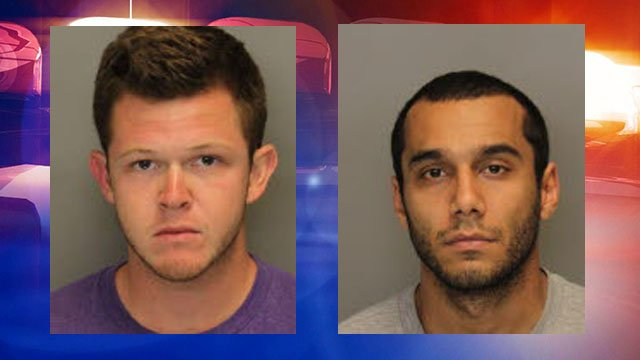 Garrett Anderson, 23, of Kennesaw (L) and Tansu Kanlica, 27, of Atlanta (R) were arrested and charged with vehicular homicide.