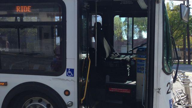 MARTA bus left running and unattended on Marietta Boulevard in Atlanta