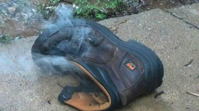 Shoe Sean was wearing when he was struck